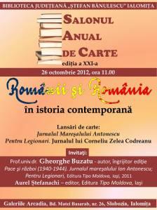 Afis Romanii si Romania 26.10