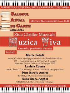 ZIUA CARTILOR MUZICALE 24.10