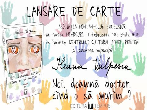 Invitatie lansare de carte Ileana Vulpescu