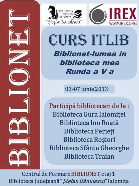 Curs ITLIB pentru bibliotecile din Runda a V-a BIBLIONET!