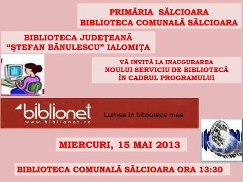 Deschidere Oficială BIBLIONET la Sălcioara!