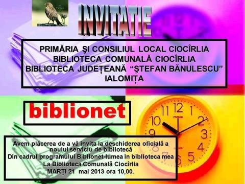 Deschidere Oficială BIBLIONET la Ciocîrlia!