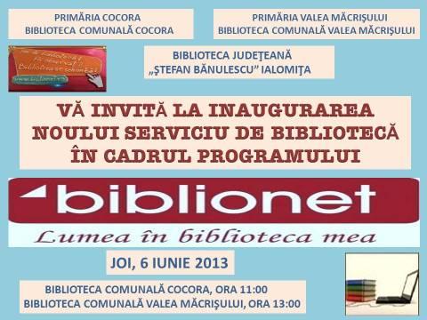 Deschidere Oficială BIBLIONET la Cocora şi Valea Măcrişului!