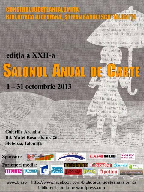 Salonul Anual de Carte, Ediţia a XXII-a, 1-31 octombrie 2013!