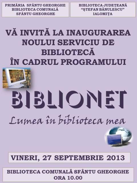 Deschidere Oficială BIBLIONET la Sfântu Gheorghe!