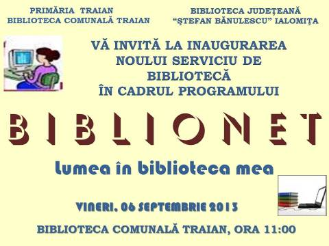 Descidere Oficială BIBLIONET la Traian!