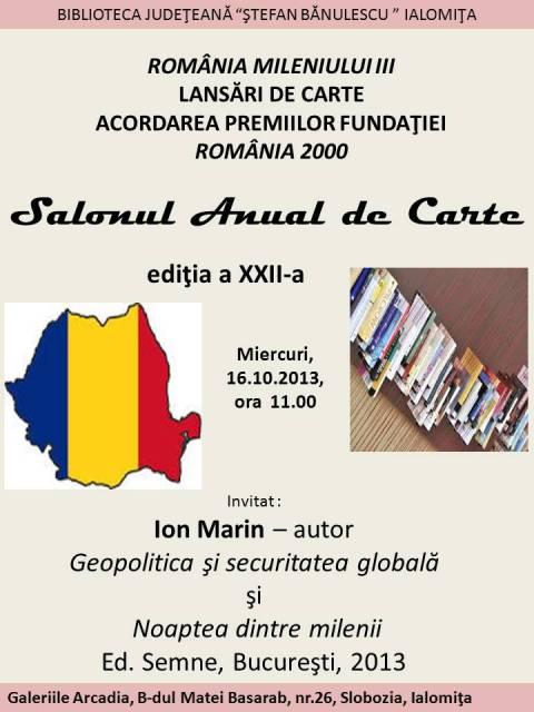 ROMÂNIA MILENIULUI III. LANSĂRI DE CARTE. ACORDAREA PREMIILOR FUNDAŢIEI ROMÂNIA 2000