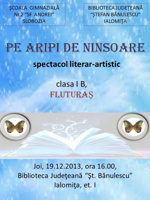 PE ARIPI DE NINSOARE - spectacol literar-artistic