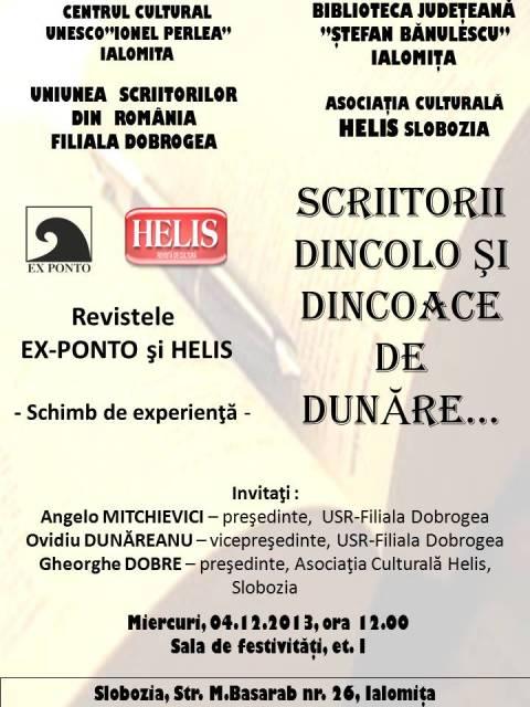 SCRIITORII DINCOLO ŞI DINCOACE DE DUNĂRE ...