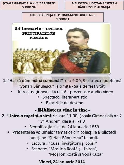 24 ianuarie UNIREA PRINCIPATELOR ROMÂNE