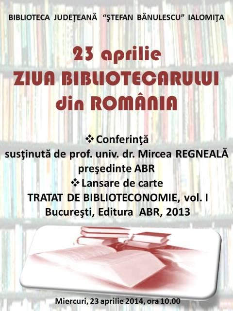 23 Aprilie - ZIUA BIBLIOTECARULUI