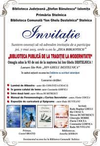 INVITATIE 2015 - Stelnica